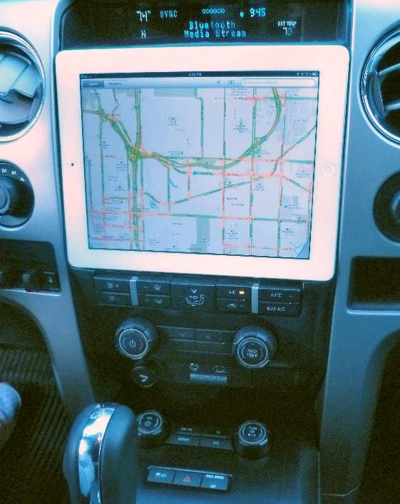 GPS Navigation via iPad.