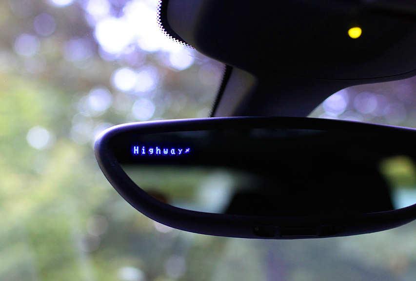 Mirror with radar display.