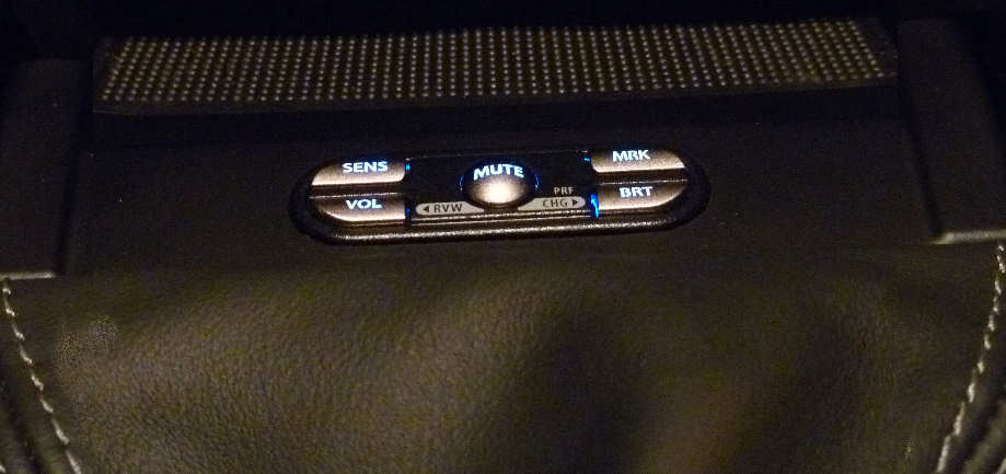 Escort controls stitched into upholstery.